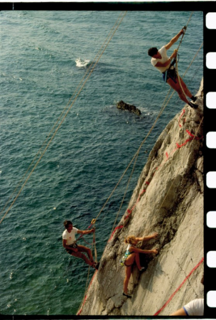 [Riprese varie di arrampicata a] Yalta