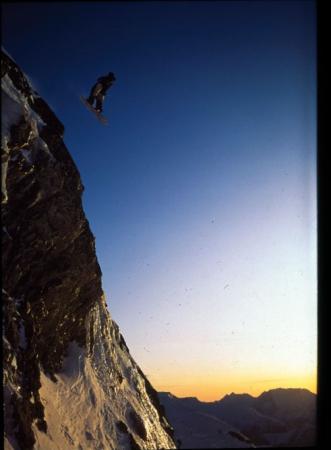 [Lo snowboarder Jérome Catz all'Alpe D'Huez]