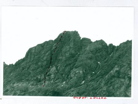 [Vie di arrampicata sulla parete ovest di Cima Collac' e parete est della Crepa Neigra]