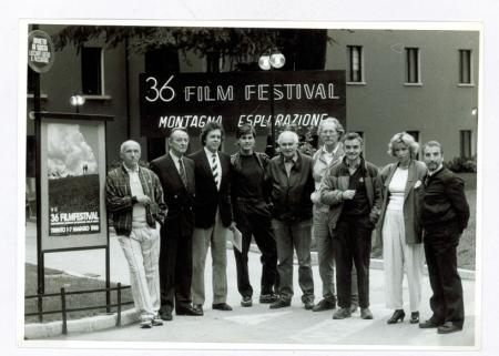 [Riprese varie della XXXVI edizione del Trento Film Festival: partecipanti e fotogrammi di film]