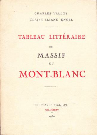 Tableau littéraire du massif du Mont Blanc