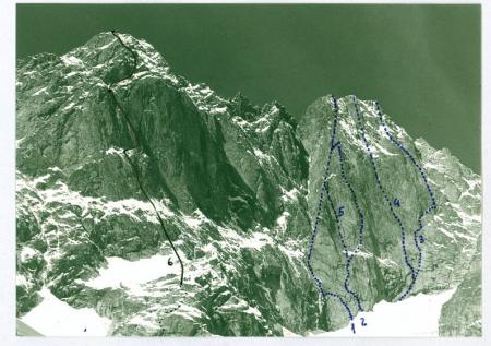 Il versante Est del Mont Greuvetta