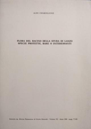 Flora del bacino della Stura di Lanzo specie protette, rare o interessanti