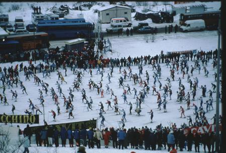 [Riprese varie di competizioni di sci di fondo: Grandi Gare e Concorso Canon]