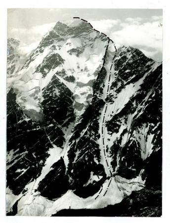 Caucaso - Nakratau - parete N, Spigolo destro, Couloir degli italiani - 1. invernali