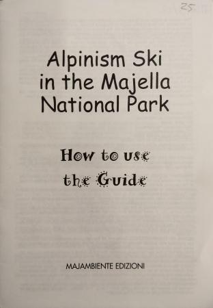 Alpinism ski in the Majella National Park