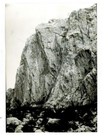 La parete nord dell'Anica Kuk vista dal torrente