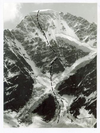 Caucaso - Donguz Orun parete N[ord], Via Chergiani – 1. invernale