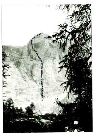 Sass de la Crusc (2825 m.) Via Maffei G. Leoni P.