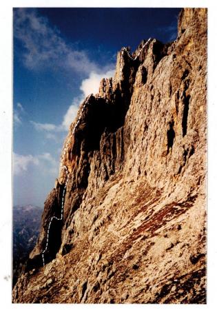 Passo Satner - Cresta Guido Rossa