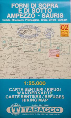Foglio 2: Forni di Sopra e di Sotto, Ampezzo-Sauris