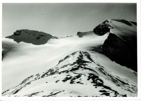 Glacier des Roches (Isére) da sin. Pointe des Buffettes (3213) e Signal de Méan Martin (3320) visti dalla Pointe Bezin Sud (3056)
