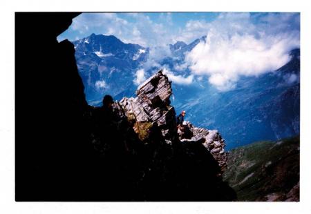 [Riprese varie del Monte Tagliaferro e salita sulla cresta nord ovest]