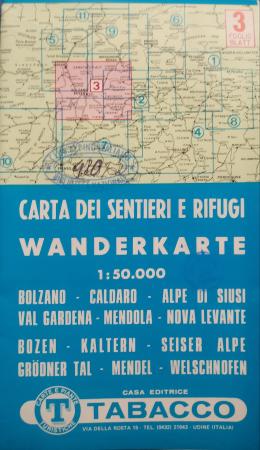 Foglio 3: Bolzano-Caldaro-Alpe di Siusi-Val Gardena-Mendola-Nova Levante