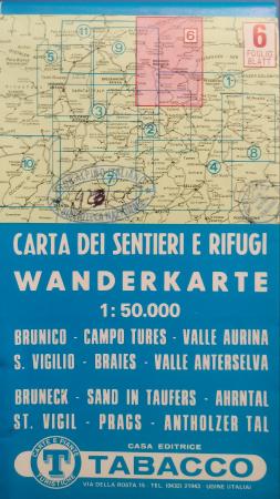 Foglio 6: Brunico-Campo Tures-Valle Aurina-S. Vigilio-Braies-Valle Anterselva