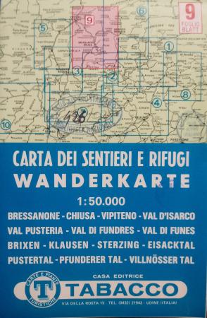 Foglio 9: Bressanone-Chiusa-Vipiteno-Val d'Isarco-Val Pusteria-Val di Fundres-Val di Funes