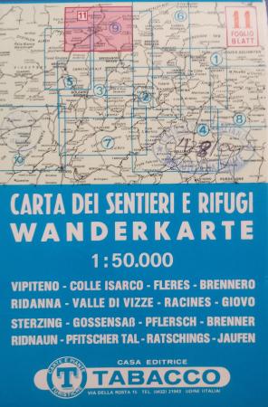 Foglio 11: Vipiteno-Colle Isarco-Fleres-Brennero-Ridanna-Valle di Vizze-Racines-Giovo
