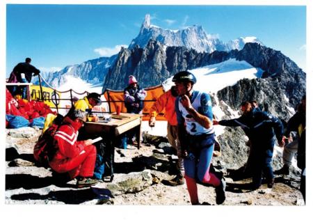 [Gara di scialpinismo sul Monte Bianco: ritratti dei partecipanti e riprese varie della competizione]