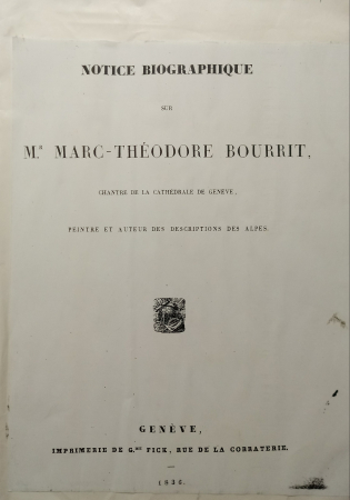 Notice biographique sur Mr. Marc-Théodore Bourrit