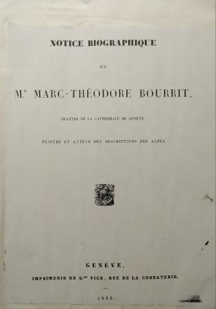 Notice biographique sur Mr. Marc-Théodore Bourrit