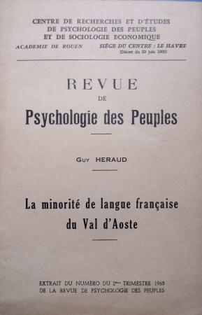 La minorité de langue française du Val d'Aoste