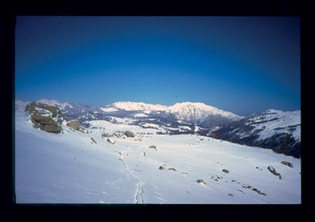 [Riprese varie di sci escursionismo in Corsica: Gruppo dell'Incudine, Punta Tozzarella, Plateau di Coscione]
