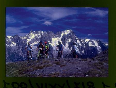 [Riprese varie tra cui: tour in mountain bike del Monte Bianco, traversata delle Valli di Lanzo da Viù a Ceres (Alpe Bianca)]