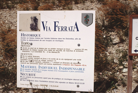 [Vie ferrate nel dipartimento di Hautes-Alpes: Vigneaux, Aiguille de Lauzet , Chaberton, Briançon, Freissinieres]