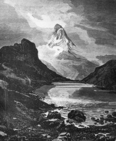 [Cervino, parete Est del lago di Riffelhorn]