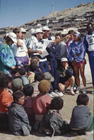 [Riprese varie di corsa in montagna tra cui: Skyrunner Tibet 1994, Aspen 1994, Km verticale Cervinia, Mont Maudit]