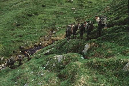 [Brigata Taurinense, III Reggimento Alpini: in marcia verso il Lago Busin, ascensione a Punta Marani]