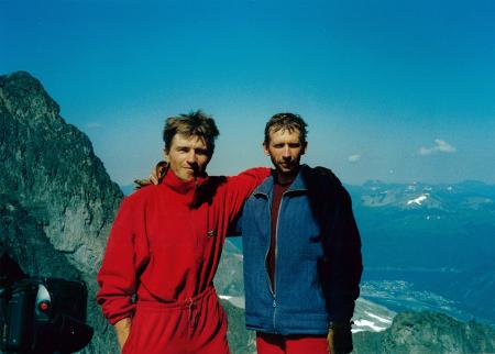 [Alexander Ruchkin e Yury Koshelenko sul Troll Wal (Norvegia), 1997]
