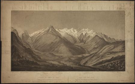 Vallée et crête de Saas (Embranchement septentrional du Mont-Rose)