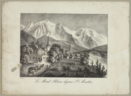 Le Mont Blanc depuis S.t Martin