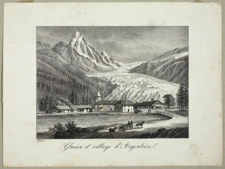 Glacier et village d'Argentiére