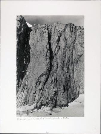 Pointe Lachenal (Tacul), parete a destra