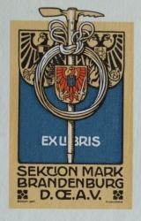 Ex libris Sektion Mark Brandenburg D. Œ. A. V.