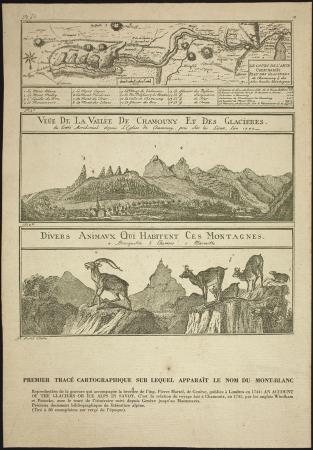 Premier tracé cartographique sur lequel apparaît le nom du Mont-Blanc