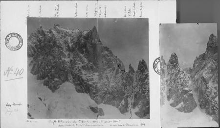 Aig.lle Blanche de Pétéret, m. 4109, Versante Ovest dalla Cresta S. E. dell'Innominata