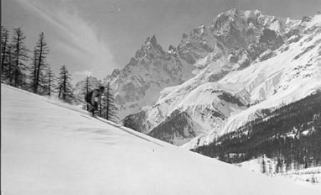 [Sciatore sul Monte Bianco]