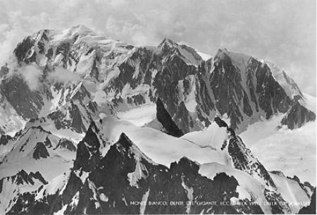 Monte Bianco, Dente del Gigante, ecc. dalla vetta della Gr. Jorasses