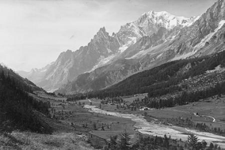 [Veduta del Monte Bianco]