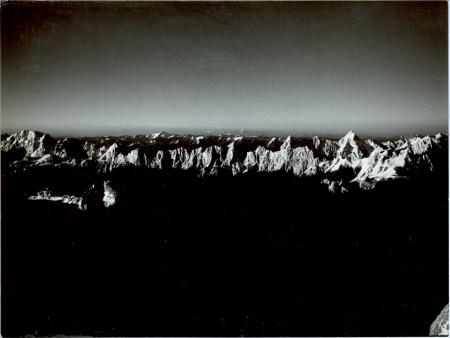 I monti dello Shagsam dal colle nord est [del Gasherbrum IV]
