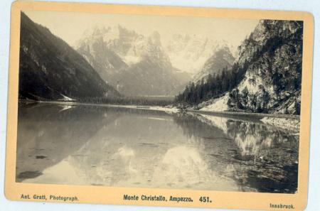 [Dolomiti altoatesine: Lago di Landro e il Monte Cristallo, ]