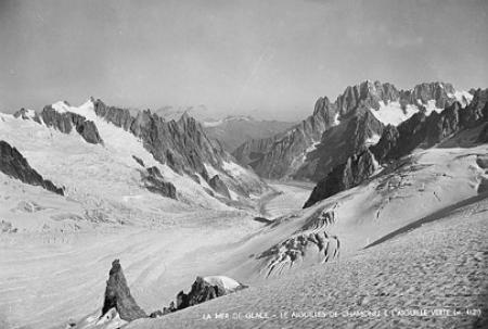 La Mèr de Glace - Le Aiguilles de Chamonix e l'Aiguille Verte (m. 4121)