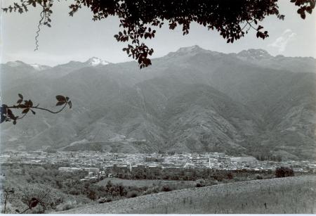 Panoramica della città di Merida e della Sierra Nevada