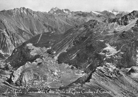 La Thuile - Panorama da Chaz Dura col Gran Combin e il Cervino