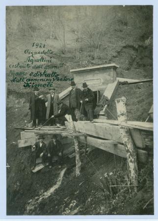 [Lavori di costruzione della serra di San Giorgio. Stramentizzo. Acquedotto agli Agnellini presso Levico. Imbrigliamento della montagna sopra Riva]