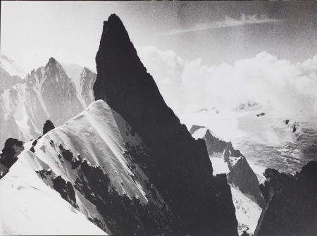 [Dente del Gigante dalla cresta di Rochefort, 1935]
