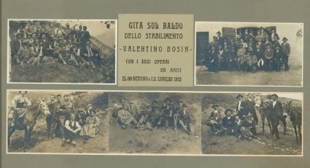 Gita sul Baldo dello Stabilimento Valentino Bosin con i suoi operai ed amici, [Tombola in montagna nei dintorni di Rovereto]